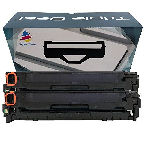 Triple Best Set of 2 Remanufactured 131 Black Laser Toner Cartridges for replacements of Canon 131 Black Toner Cartridge