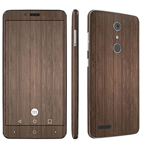 ZTE [Zmax Pro] Phone Skin – [SkinGuardz] Full Body Scratch Proof Vinyl Decal Sticker with [WallPaper] – [Brown Wood] for ZTE [Zmax Pro] [Carry Z981]
