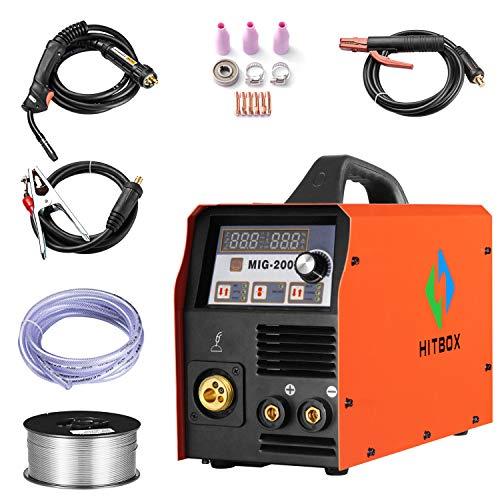 200A MIG Welding Machine 220V DC MIG MAG ARC Lift TIG Welder Gas Gasless  Flux Cored bb4e6b1610ab