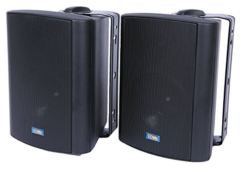 TIC ASP60-B 5'' Outdoor Weather-Resistant Patio Speakers with 70v Switch (Pair) - Black by TIC