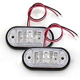 CARCHET 2 x LED Ampoule Lampe Feu Latéral Lumière Automobile Camion (éclairage blanc 12V 24V)