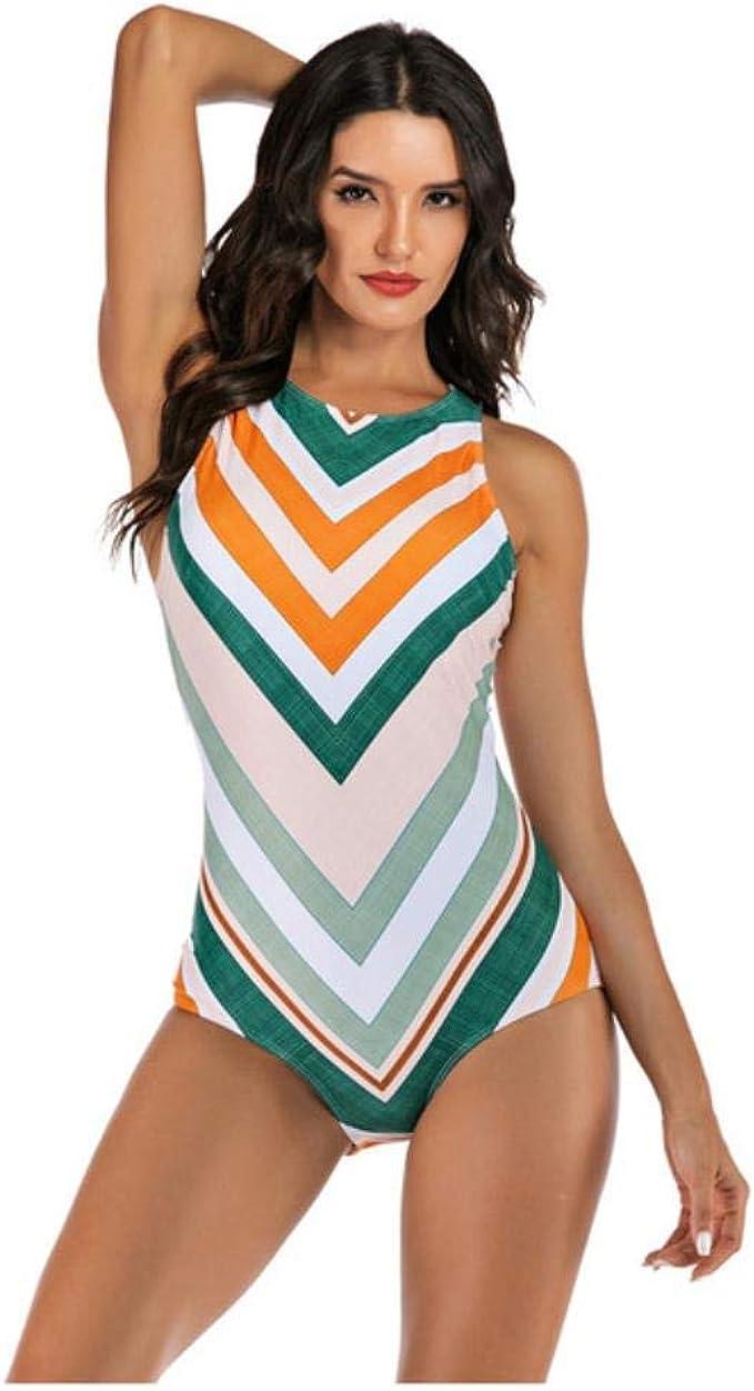 de una sola pieza LHXS Ba/ñador para mujer con estampado sin mangas para mujer surf para buceo ba/ñador de playa