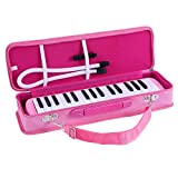 ammoon Melodica 32 Keys Melodica Pianica Piano Style Keyboard Harmonica Mouth Organ with Mouthpiece Cleaning Cloth Carry Case for Beginners Kids Musical Gift