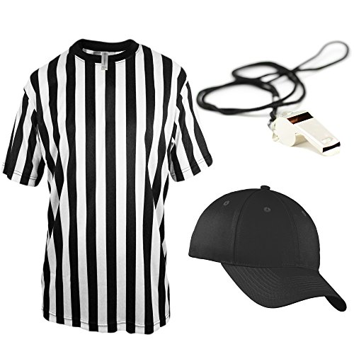Mato & Hash Children's Referee Shirt Ref Costume Toddlers Kids Teens - Ref Set CA2004K XL CA2099 V S/M RW1000