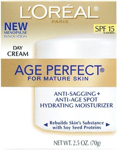 L'Oréal Paris, Crème de jour Age Perfect pour peaux matures avec des protéines de la graine de soja, SPF 15, 2.5-Ounce