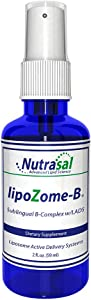 Nutrasal Lipozome B Complex Sublingual Liposome Spray - 2oz Highly Abosorbed Liposome Formulation with Full B Complex, Methyl-Folate, L-Carnitine, and Biotin