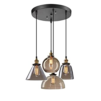 4-ligero Golpe De Mano Vaso Iluminación De Colgante,moderno ...