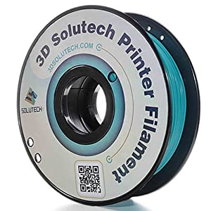 3D Solutech Teal Blue 3D Printer PLA Filament 1.75MM Filament, Dimensional Accuracy +/- 0.03 mm, 2.2 LBS (1.0KG) - 100% USA from 3D Solutech