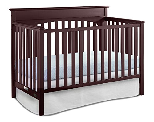 Graco Lauren Convertible Crib, Cherry, Easily Converts to Toddler Bed Day Bed or Full Bed, Three Position Adjustable Height Mattress, Some Assembly Required (Mattress Not Included) - Part Mfg Cherry
