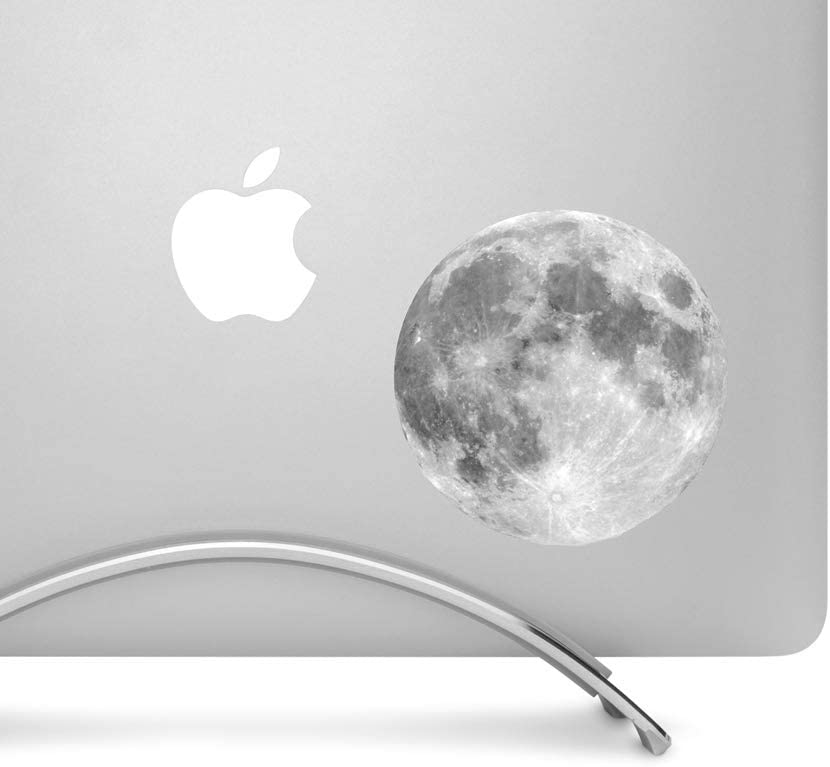 Full Moon - 4 Inch Round Printed Vinyl Decal Sticker - For MacBook, Laptops, Tablets, and more!