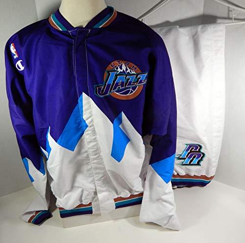 1997-98 Utah Jazz Game Issued Full Warm up Breakaway Jacket & Pants - NBA Game Used