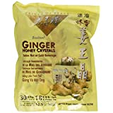 Instant Ginger Honey Crystals Pack of 30 Bags - 18 g Sachets - 3 Pack