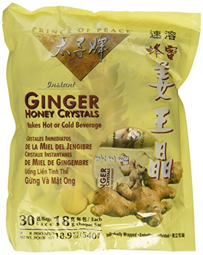 Instant Ginger Honey Crystals Pack of 30 Bags - 18 g Sachets - 3 - Ginger Tea Instant Crystal Honey