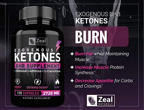 Exogenous Ketones BHB Keto Pills (2870mg   120 Capsules) Keto Diet Pills w. MCT Oil, BHB Salts Beta Hydroxybutyrate, Natural Caffeine - Keto Supplement for Keto Weight Loss - Keto Diet from Shark Tank by Zeal Naturals (Image #4)