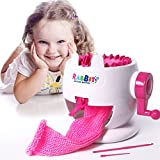 DIY Knitting Machine, AHZZY Cute Rabbit Hand-Operated Wool Knitting Machine Intelligence Development DIY Manual Knitting Toy Scarf Hat Doll Weaver for Children Kids Girls