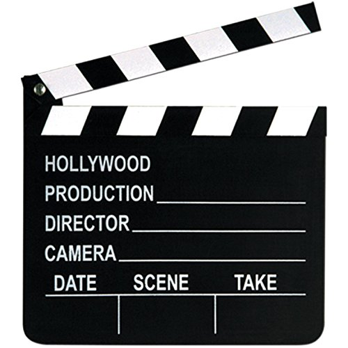 "Price comparison product image Beistle 50715 Movie Set Clapboard, 8"" x 7"", Black/White"