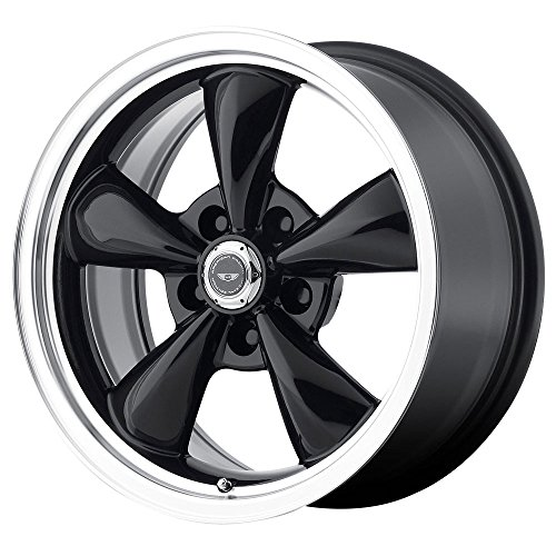 AMERICAN RACING AR105M Torq Thrust M 17X10.5 5X4.75 Black w/Mach Lip (Qty of (Mach Lip)
