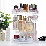 FLHSLY 360° rotating Transparent Cosmetic storage box Skin care products Desktop Finishing shelf Cosmetic case storage Artifact