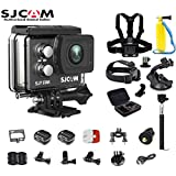 SJCAM SJ7 Star Kit SJ7 Camera with Accessories, 6-in-1 Accessories Real 4K Action Camera Wifi Waterproof Underwater Camera Ambarella Chipset 30FPS/Sony Sensor 12MP Gyro Stabilization-Black