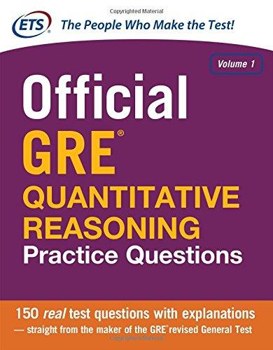 Official GRE Quantitative Reasoning Practice Questions Volume 1 (1st 2014) [ETS]
