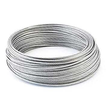 many sizes avaliable 5m steel wire rope 3mm grinding machine garden forestry EN 12385-4 Strand 6x7+FC