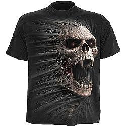 Espiral–Mens–fundido Out–Camiseta, color negro, color negro, talla Pequeño