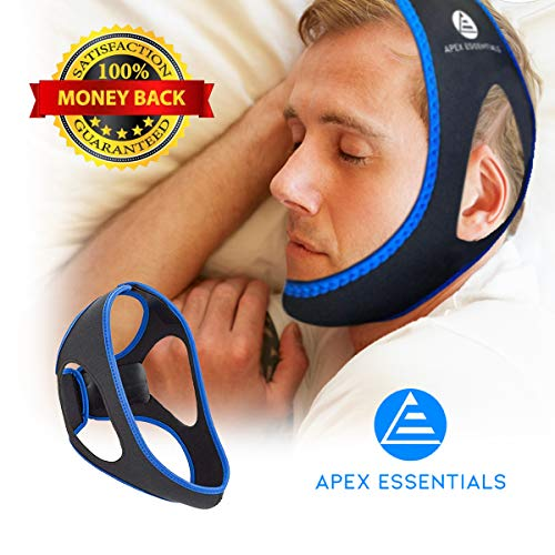 Anti Snoring Chin Strap | Premium Snoring Solution & Sleep Aid | Upgraded Anti Snoring Devices to Stop Snoring | Most Effective Snore Chin Strap for Men & Women | Lifetime Replacement