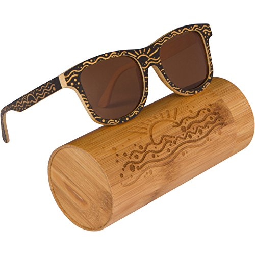 WOODIES Custom Designed Full Bamboo Wood Polarized Sunglasses by Woodies