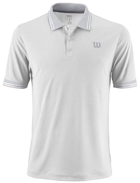 Wilson M Star Tipped Polo - Polo, Hombre, Blanco(White): Amazon.es ...
