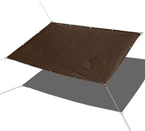Alion Home Custom Straight Edges 180GSM HDPE UV Block Sun Shade Sail Permeable Canopy for Pool Outdoor Patio Garden - Brown (3' x 10')