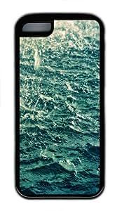 Blue water Custom iPhone 5C Case Cover - TPU - Black