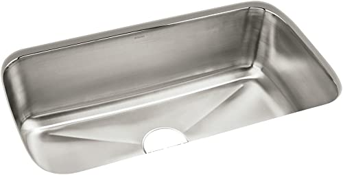 STERLING 11605-NA Carthage 32-inch by 18-inch Under-mount Single Bowl Kitchen Sink, Stainless Steel