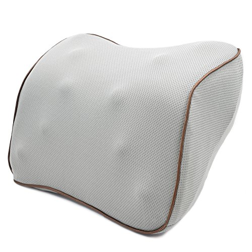 Price comparison product image Vitodeco Fabric Neck Pillow for Travel - Best Memory Foam Travel Cushion; Neck Pillow; Car Pillow; Neck Rest pillow; Neck Support Pillow with Massage Spots (Gray)