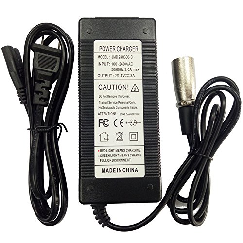 Sealed Lead Acid Battery Charger 24V 3000mah with XLR Connector Us Plug and Green and Red Led Display