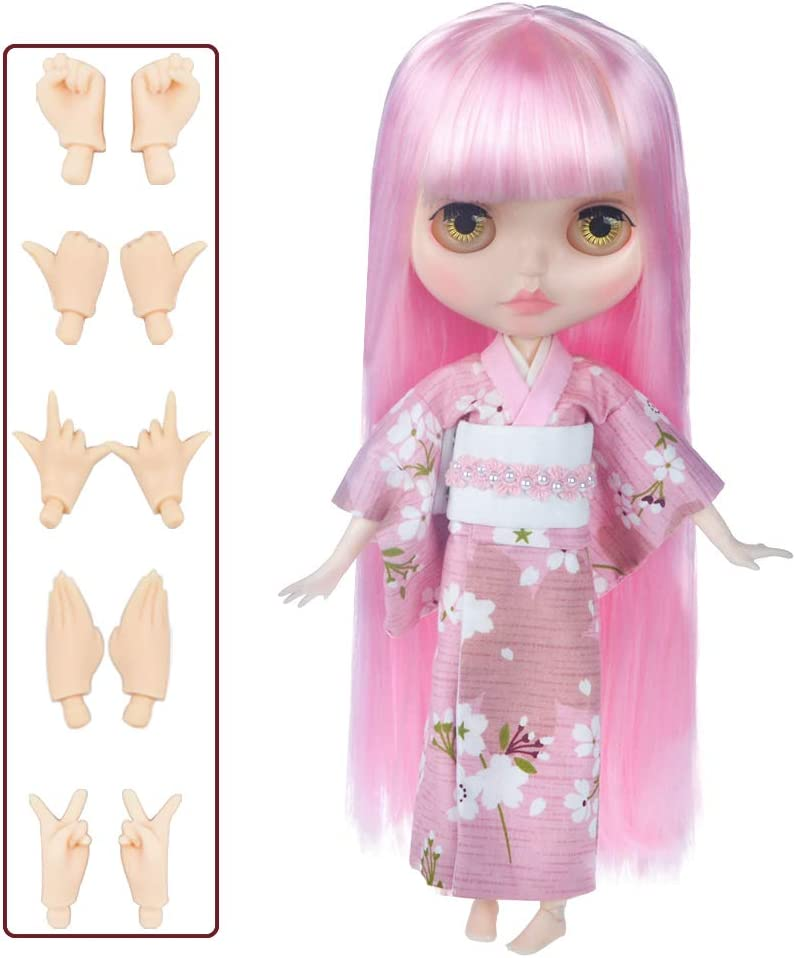 YM03 4-Color Changing Eyes Shiny Face and Ball Jointed Body Dolls 12 Inch Customized Dolls with Five Hands Nude Doll Sold Exclude Clothes 1//6 BJD Doll