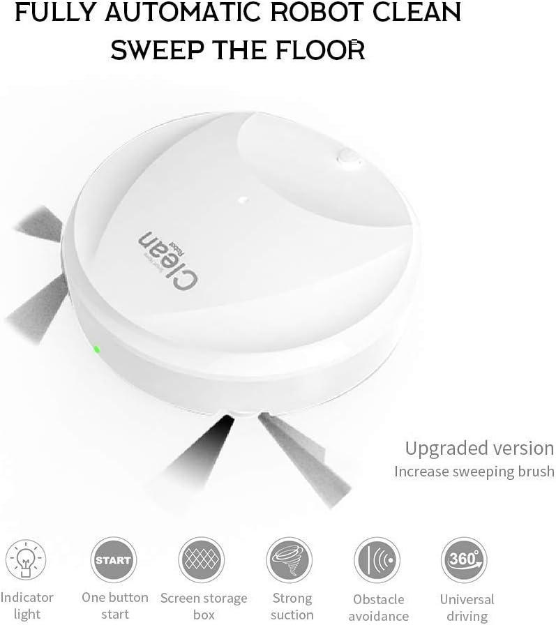 YUHT Robot Aspirador, Limpiador Bordes Automático Limpieza Remote Control 3 Modo de Limpieza 500 Pa de succión/Anti-caída Cliff Sensor/Bajo Ruido, White: Amazon.es: Deportes y aire libre