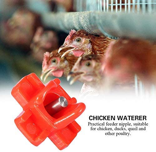 10pcs Chicken Automatic Water Nipples Feeder Horizontal Side Chicken Nipples Poultry Farming Drinking Dispenser Waterers Equipment for Ducks Hen Turkeys Geese