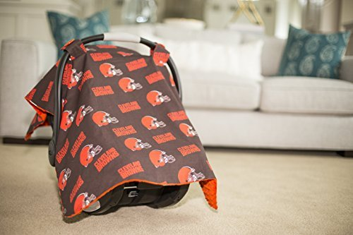 Carseat Canopy NFL Cleveland Browns Baby Infant Car Seat Cover