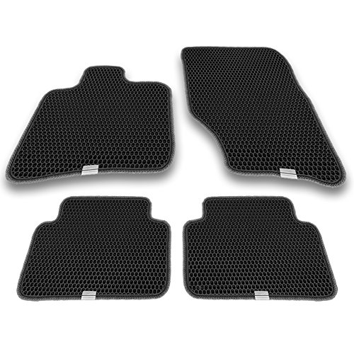 Floor Fit Tiles (Motliner Floor Mats, Custom Fit with Dual Layered Honeycomb Design for Audi Q7 4L 2009-2015. All Weather Heavy Duty Protection for Front and Rear. EVA Material, Easy to Clean.)