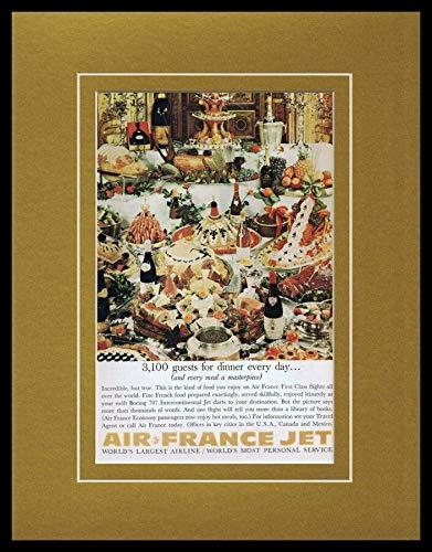 1966 Air France Jet Framed 11x14 ORIGINAL Vintage Advertisement