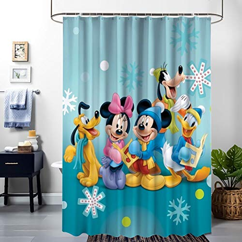 Donald Duck Halloween Hd (DISNEY COLLECTION Shower Curtain Goofy Mickey Mouse Minnie Donald Duck Pluto Desktop Wallpaper Hd Bathroom Shower Curtains with)