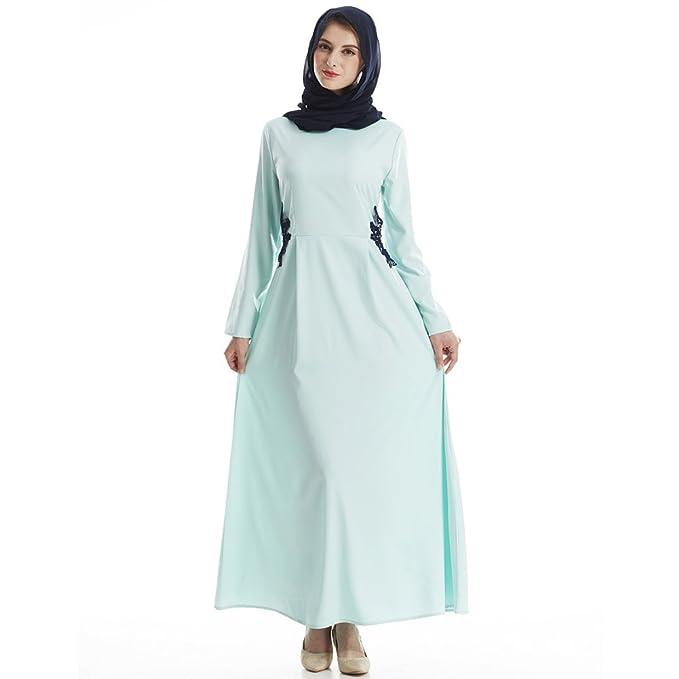 33cedf380b M A Vestido Largo Mujer Musulmán Dubai Kenia musulman Árabe Túnica Kafatán  Abaya