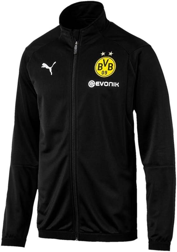 Puma Fu/ßball BVB Borussia Dortmund Poly Trainingsanzug 2018 2019 Jacke Hose Kinder Herren Gelb Schwarz
