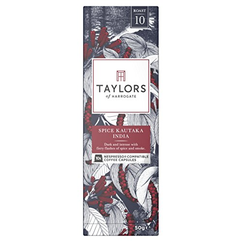 Taylors of Harrogate Spice Kautaka India Nespresso Compatible Coffee Capsules,10 Count (Pack of 6)