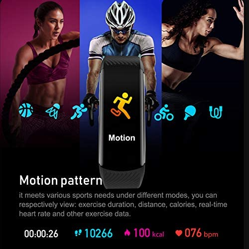 UMO Intelligent Bracelet, Multifunctional Temperature Measuring, Fever Detection Waterproof Smart Watch, Smartband, Heart Rate, Pedometer, Activity & Fitness Trackers 7