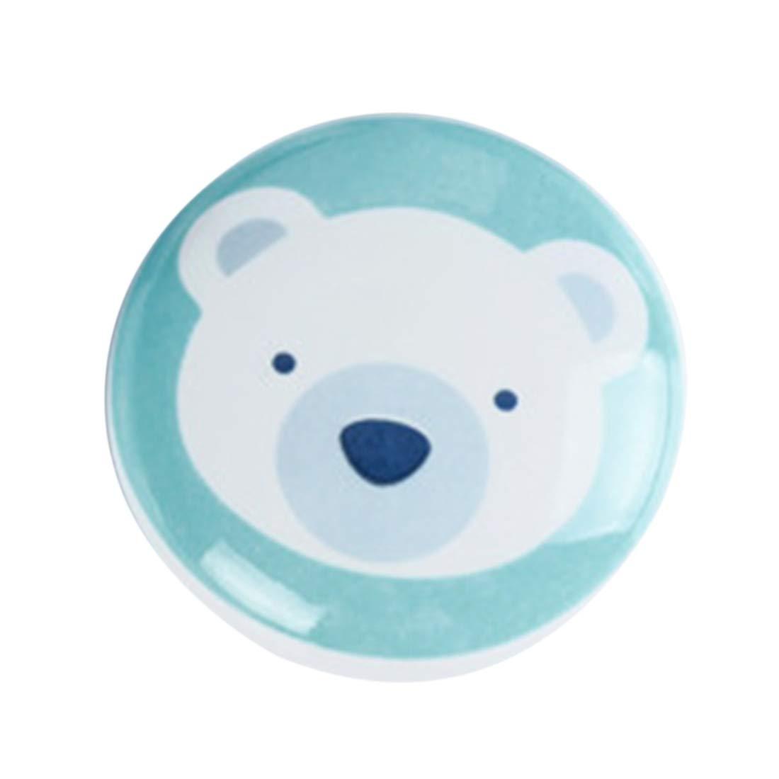Yavso Pomos y Tiradores Infantiles 6 Piezas Pomos Ceramica Tiradores de Muebles para Habitaci/ón Infantil
