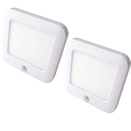 2 focos LED magnéticos recargables y con sensor de movimiento automático PIR - Lámpara de cocina