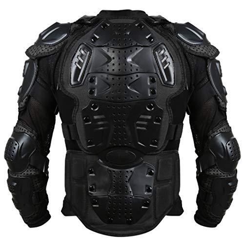 Full Motorcycle Body Armor Shirt Jacket Motocross Back Shoulder Protector Gear XXL