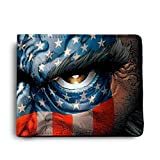 ShopMantra Angry American Printed Canvas Leather Wallet for Men's