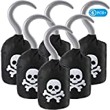 Boao Captain Pirate Hooks Non-Woven Pirate Hooks Costume Accessory Prop for Halloween Party Pirate Themed Party Favours Accessories (6 Packs)